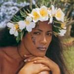 Tatouage polynésien de femme