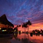 coucher de soleil Tahiti ile de la société Polynésie